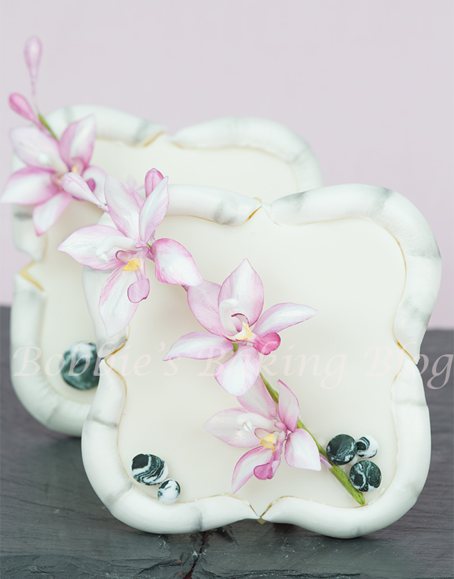 how to make a gum paste asian ground orchid
