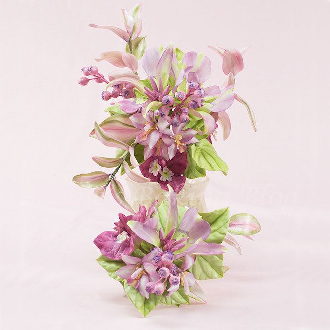 how to create sugar paste bougainvillea and mariposa lilies