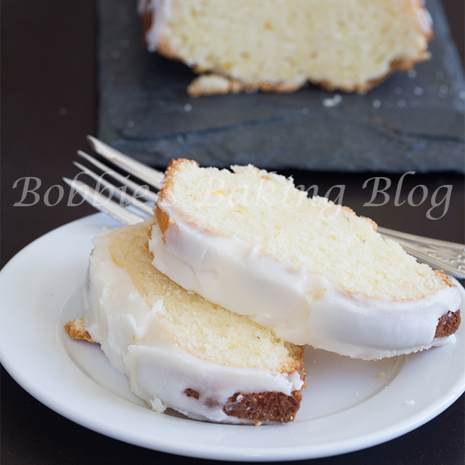Blood orange white chocolate chunk pound cake