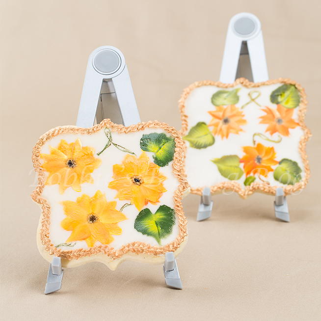 Hand Painted Sunflower Cookies
