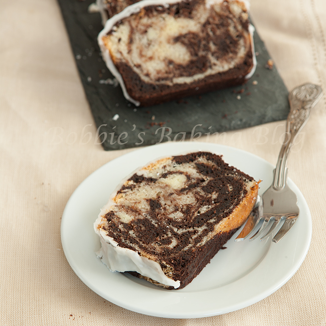 spicy chocolate-vanilla swirl pound cake