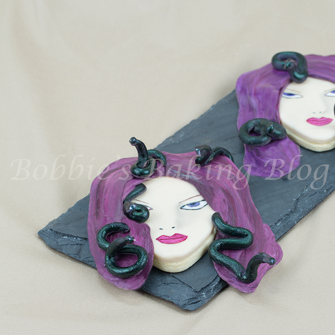 Medusa Hand Painted Sugar Cookie