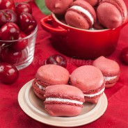 French Cherry Macaron Tutorial