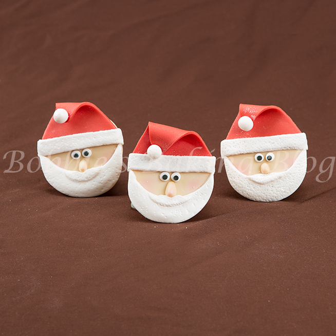 how to make a santa claus cupcake video