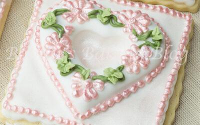 Primrose Garden Tufted Heart on a Sugar Cookie
