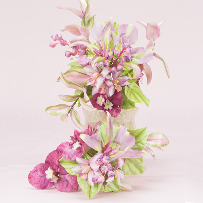 learn cake decorating methods sugar flower spray with Chef Bobbie