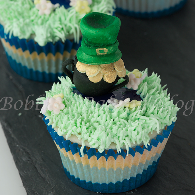 Saint Patrick's Day Cupcakes, Pot of Gold and Leprechaun Hat