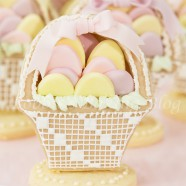 Easter Basket with Royal Icing Needle Point
