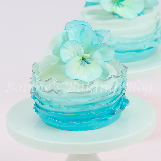 how to make fondant frills and sugar pansy