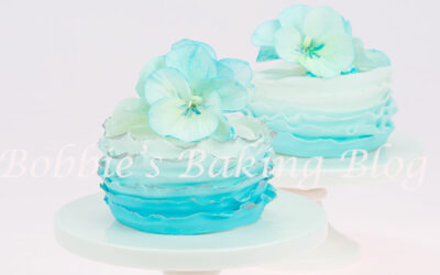 Spring Fondant Frill Mini Cake with Sugar Pansy Spray