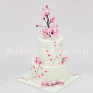 Sugar and Hand Painted Cherry Blossom Cake Tutorial