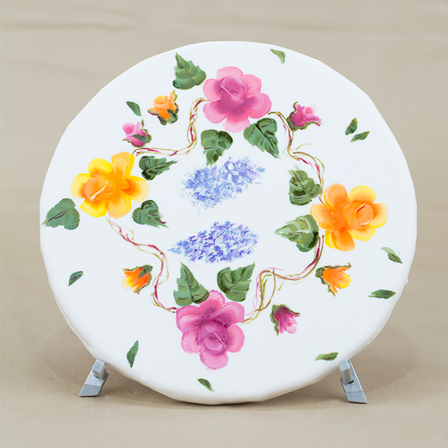 learn to hand paint one stroke method petal cakes