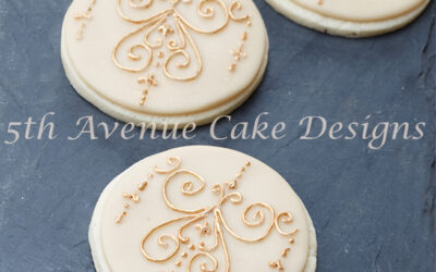 Elegant Scroll Royal Icing Scrolls on a Sugar Cookie