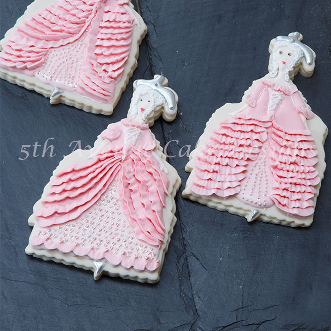Cookies Couture with 5th Avenue Cake Designs Marie Antoinette  Cookie Doll Tutorial