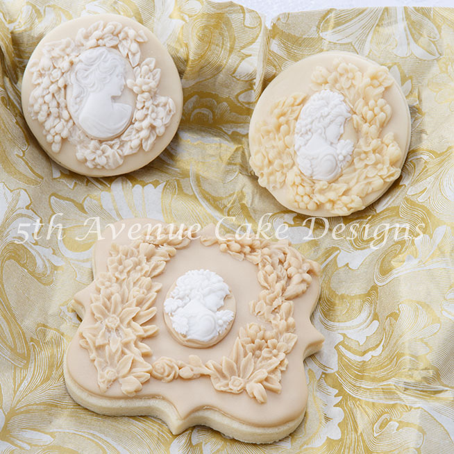 Wedding bas relief cookie by Bobbie Bakes