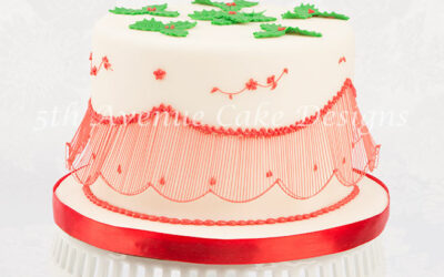 Bridgeless String-Work Holiday Cake