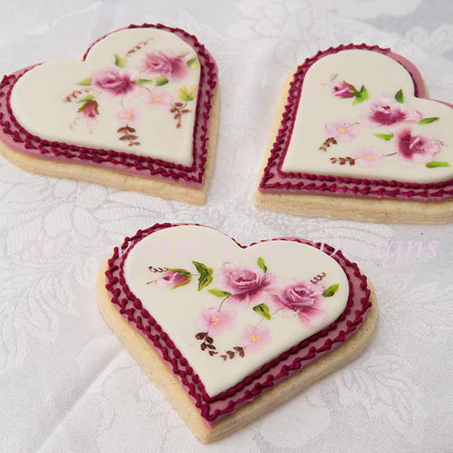 Limoges style hand painted cookies by Bobbie  Noto