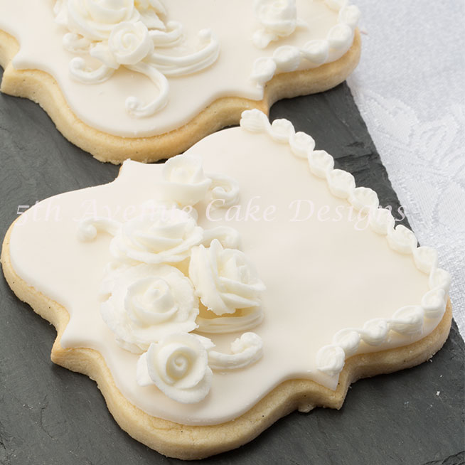 Elegant wedding cookie favors by Bobbie Noto