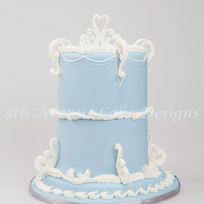 Wedgwood scroll cake by Bobbie Noto