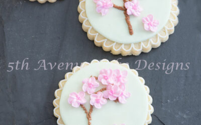 Piped Cherry Blossom Tree Cookies