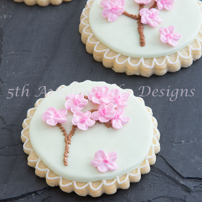 Cherry blossom graduation cookies by Bobbie bakes