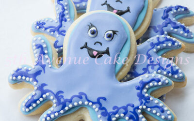 Octopus Baby Shower Cookies
