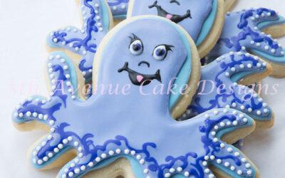 Octopus Baby Shower Cookies